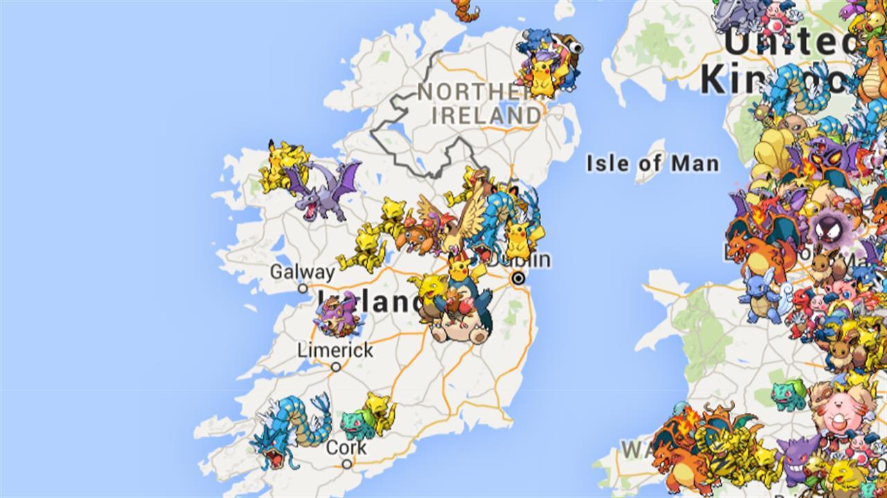 Find rare Pokemon in Ireland with Poke Radar!