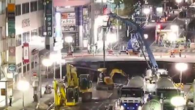 VIDEO Japan sinkhole repaired in stunning timelapse!