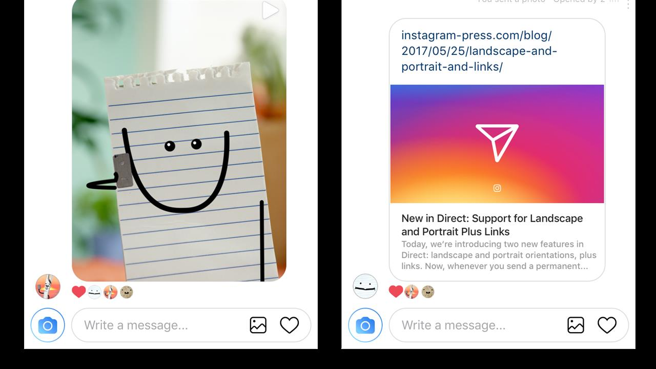 Instagram Direct Gets Support For Links, Orientation Settings