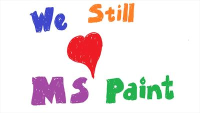 Fan support saves MS Paint